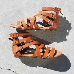 NWOT Breckelle's Strappy Gladiator Sandals